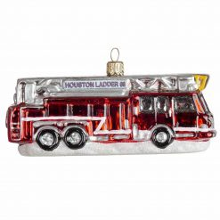 Houston Firetruck Christmas Ornament - MYS984-0