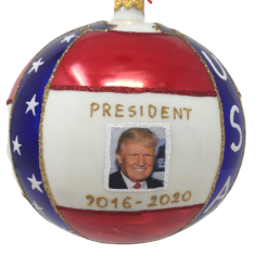 Donald Trump Christmas Ornament, Red, White, and Blue {Mys973}-0
