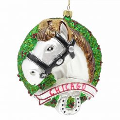 Chicago Horse Christmas Ornament [Sew107]-0