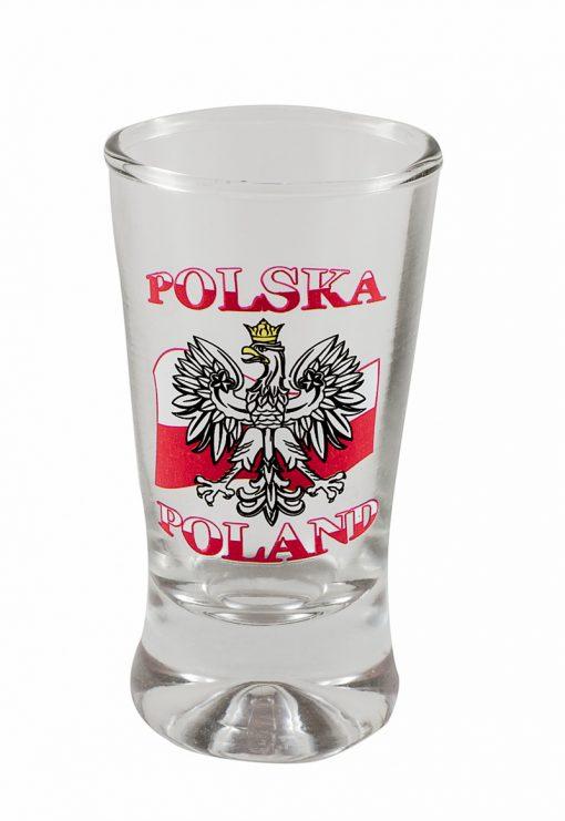 Polish Shot Glasses - Polska - Polish Flag with White Eagle - 3.5cl - Set of 6-0