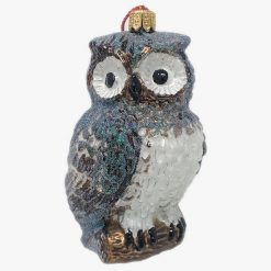 Owl Glass Christmas Ornament-0