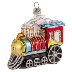 "Steam Train Christmas Ornament 2.5"" (7cm) - OLS118-0"