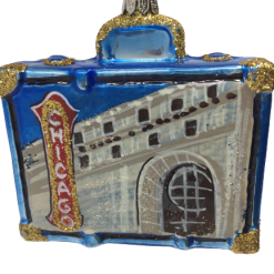 "Chicago Flag Suitcase Christmas Ornament 3"" (8cm) - OLS129-0"