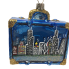 "Chicago Flag Suitcase Christmas Ornament 3"" (8cm) - OLS129-5292"