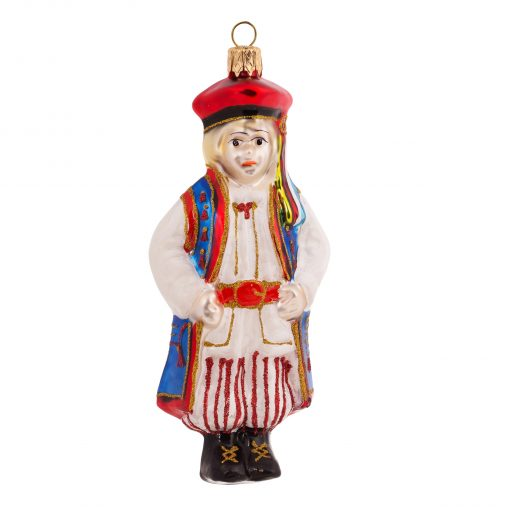 "Polish ""Krakowiak"" Boy From Krakow Christmas Ornament - 4"" (10cm) -0"