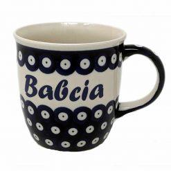 Babcia - Grandma Polish Pottery Mug - Boleslawiec Grandma Mug - 350 mL-0