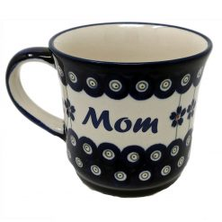 Mom Polish Pottery Mug - Boleslawiec Coffee Mug - 400 mL - 13.5 oz-0