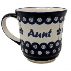 Aunt Polish Pottery Mug - Boleslawiec Coffee & Tea Mug - 400 mL - 13.5 oz-0