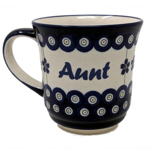 Aunt Polish Pottery Mug - Boleslawiec Coffee & Tea Mug - 400 mL - 13.5 oz-0