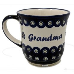 Grandma Polish Pottery Mug - Boleslawiec Coffee & Tea Mug - 400 mL - 13.5 oz-0