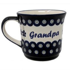 Grandpa Polish Pottery Mug - Boleslawiec Coffee & Tea Mug - 400 mL - 13.5 oz-0