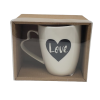 Love Coffee Tea Mug with Hearth Shaped Handle-5078