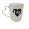 Love Coffee Tea Mug with Hearth Shaped Handle-5077