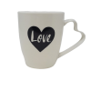 Love Coffee Tea Mug with Hearth Shaped Handle-0