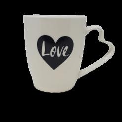 Love Coffee Tea Mug with Hearth Shaped Handle-0