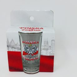 Polish Shot Glass - Polska - Polish Flag with White Eagle - 3.4cl -0