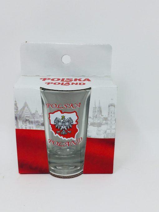 "Polish Shot Glass - Polska - Poland ""mapa"" - 3.4cl-0"