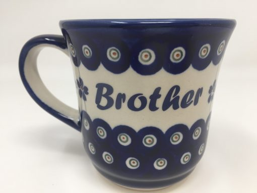 BROTHER Polish Pottery Mug - Boleslawiec Coffee & Tea Mug - 400 mL - 13.5 oz-0