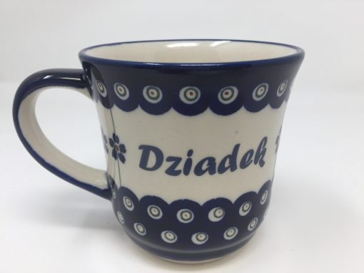 DZIADEK Polish Pottery Mug - Boleslawiec Coffee & Tea Mug - 400 mL - 13.5 oz-0