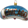 """Chicago Bean – Blue with stars 4.25"""" (MYS993)-5186"""