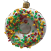 "DONAT Glass Christmas Ornament , 3"" (SEW167)-0"