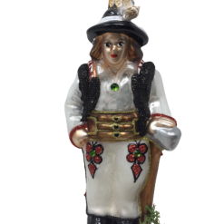 "Polish Highlander Boy ""Goral"" Glass Christmas Ornament 5"" (SEW162)-0"