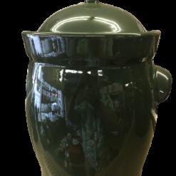 POT Garnek Kamionkowy - 20L (Green ,barrel)-0