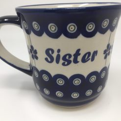 SISTER Polish Pottery Mug - Boleslawiec Coffee & Tea Mug - 400 mL - 13.5 oz-0