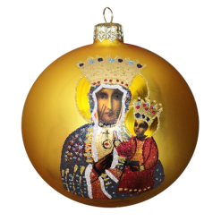 "Christmas Ornament ""Lady of Czestochowa""100mm (KOM2004)-0"