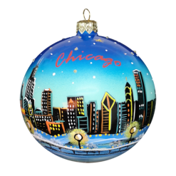 Chicago View Ornament ,10cm,KOM2016-0