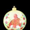 "Christmas Ornm.""St.John Paul II "", 10cm,KOM2007,Sw.Jan Pawel II ,Cream ball,,Made in Poland-0"