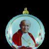 "Christmas Ornm.""St.John Paul II "", 10cm,KOM2008,Sw.Jan Pawel II ,BLUE ball,,Made in Poland-0"