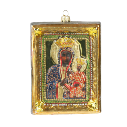 "Christmas Ornm.Picture ""Our Lady of Czestochowa "",Obraz KOM2010-0"