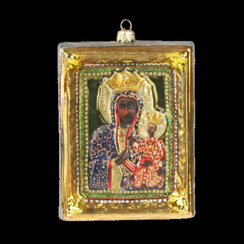 """Christmas Ornm.Picture """"Our Lady of Czestochowa """",Obraz KOM2010-0"""