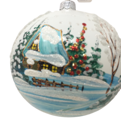"Christmas Ornament ""White wiinter"" 120mm (OLS211W)-0"