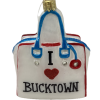 "BUCKTOWNChic,Glass Christmas Ornm.3.5 "".Wit124 Hand painted and decorated in Poland.-0"