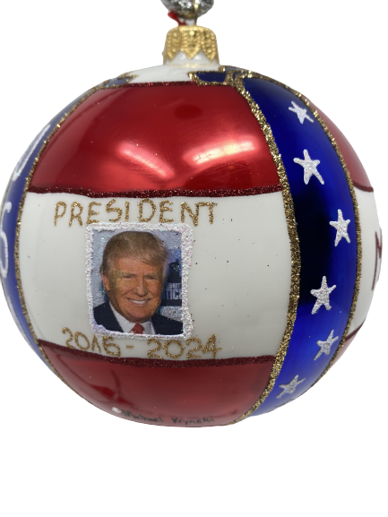 Donald Trump Christmas Ornament, Red, White, and Blue {Mys973M} MAGA-0