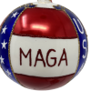 Donald Trump Christmas Ornament, Red, White, and Blue {Mys973M} MAGA-5455