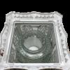 "Znicz Glass -Cemetery Candle -White -""Kapliczka  14""(25cm) .Product from Poland-5438"