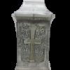 "Znicz Glass -Cemetery Candle -White -""Kapliczka| 14""(25cm) .Product from Poland-0"
