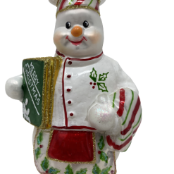 "Kitchen Chef ,Glass Christmas Ornm. 6"".Wit101-0"