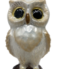"Owl Gold ,Glass Christmas Ornm. 3"".Wit108 . Hand painted and decorated in Poland.-0"
