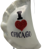 "PIEROG Chicago,Glass Christmas Ornm.4 "".Wit121 Hand painted and decorated in Poland.-0"