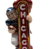 "Football Chicago,Glass Christmas Ornm.5.5 "".Wit130 Hand painted and decorated in Poland.-0"