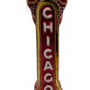 """Chicago Sign,Glass Christmas Ornm.5.5 """".Wit131 Hand painted and decorated in Poland.-0"""