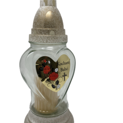 "Znicz Glass -Cemetery Candle -ZP 37 BN 10"" .Product from Poland-0"