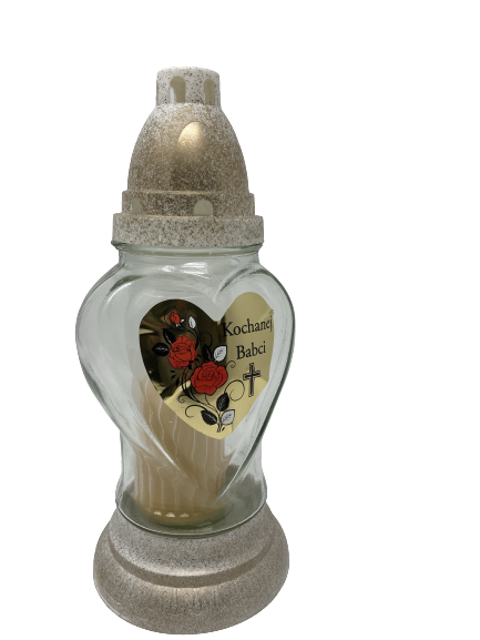 """Znicz Glass -Cemetery Candle -ZP 37 BN 10"""" .Product from Poland-0"""